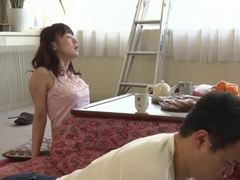 Japanese sweeties adore sucking the hard cocks